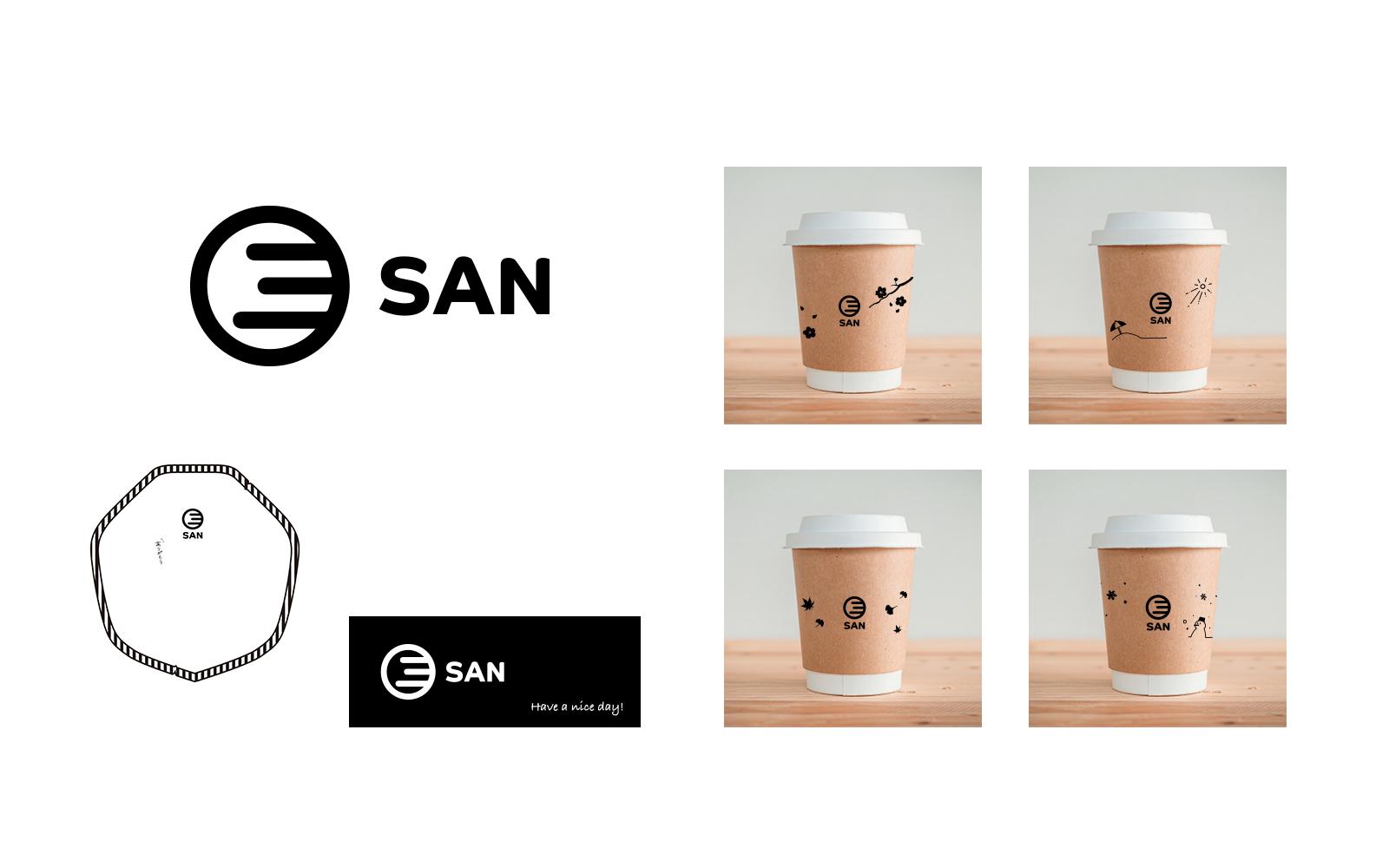 TAKEOUT CAFE SAN パッケージデザイン